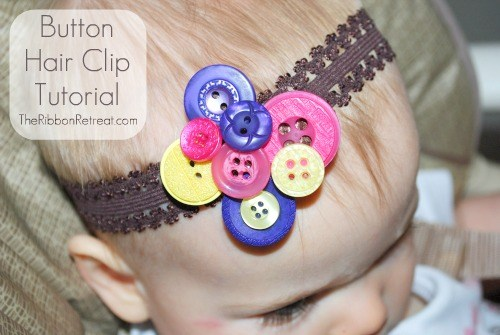 Button Hair Clip Tutorial - The Ribbon Retreat Blog