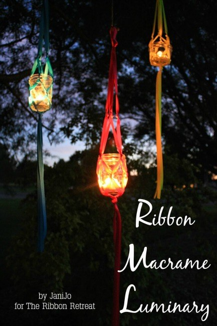 Ribbon Macrame Luminary - The Ribbon Retreat Blog