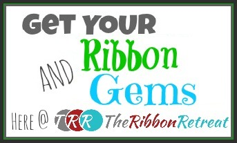 Ribbon and Gems Button
