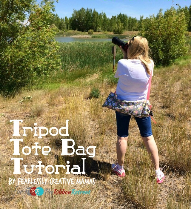 Tripod Tote Bag - The Ribbon Retreat Blog