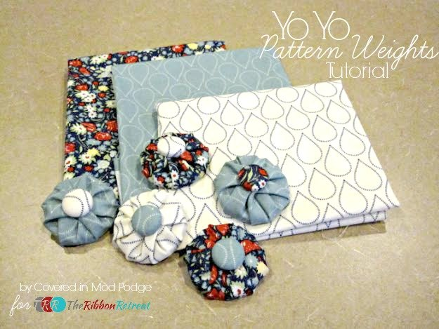 Yo Yo Pattern Weights Tutorial - The Ribbon Retreat Blog