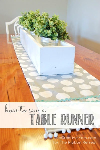 "How To Sew A Table Runner {A-Z Series, ""T""} - The Ribbon Retreat Blog"