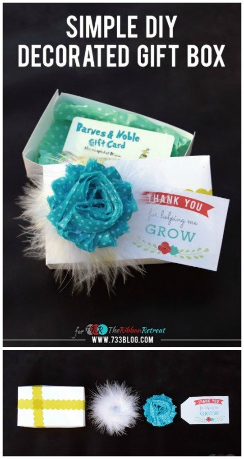 "Flowers and Feathers DIY Gift Box {A-Z Series, ""F""} - The Ribbon Retreat Blog"