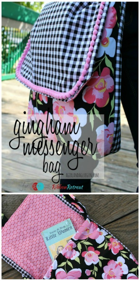 Gingham Messenger Bag - The Ribbon Retreat Blog