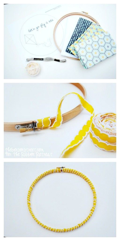 "Kite Embroidery Hoop Art {A-Z Series, ""K""} - The Ribbon Retreat Blog"