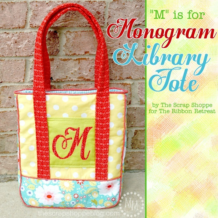 "Monogrammed Library Tote and Zipper Pouch {A-Z Series, ""M""}"