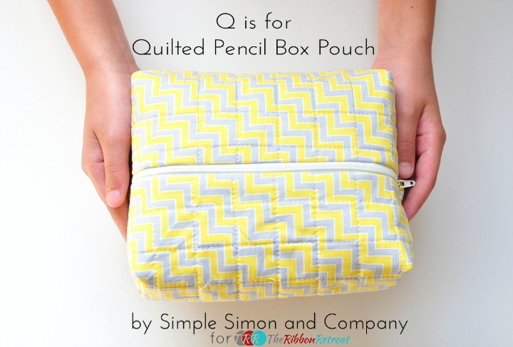 "Quilted Pencil Box Pouch {A-Z Series, ""Q""}"