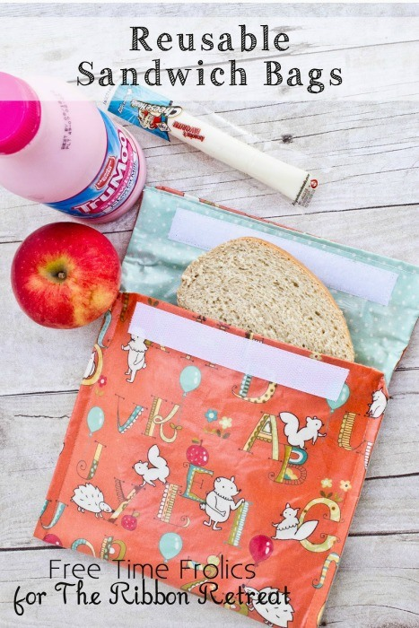 "Reusable Sandwich Lunch Bags {A-Z Series, ""L""}"