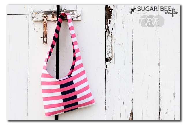 Switchable Striped Sling Satchel - The Ribbon Retreat Blog