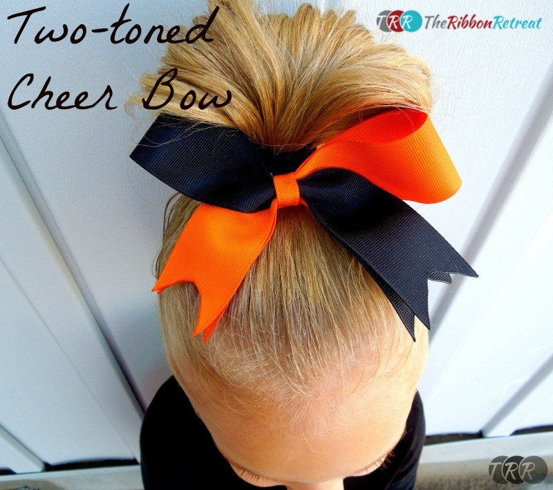 Two-Toned Cheer Bow