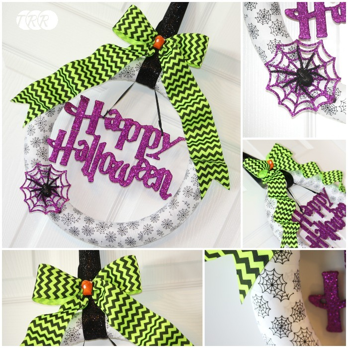 Halloween Ribbon Wreath - The Ribbon Retreat Blog