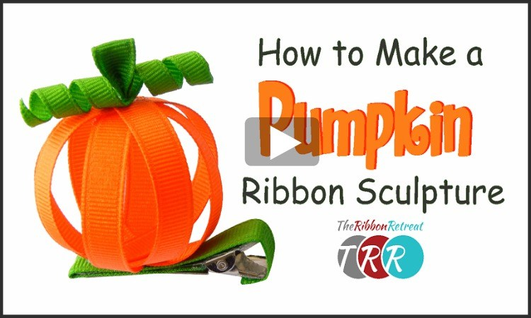 How To Make A Pumpkin Ribbon Sculpture, YouTube Thursday