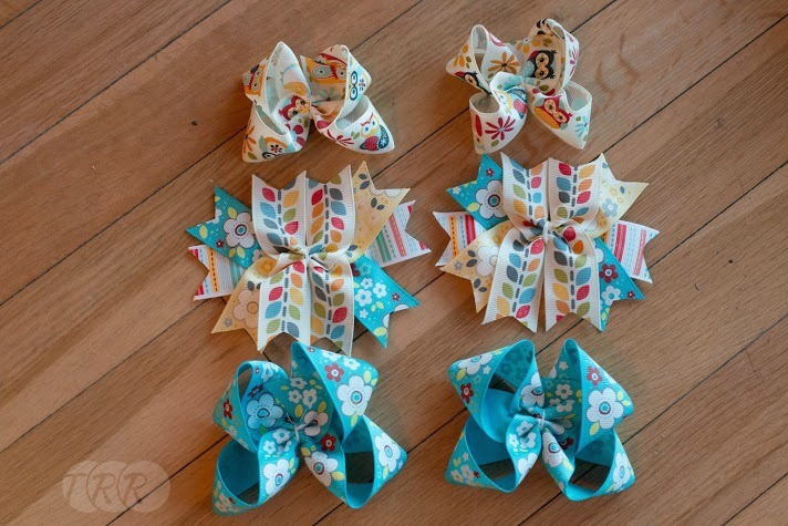 Mini Stacked Owl Piggy Tail Bows - The Ribbon Retreat Blog