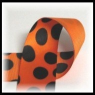 Orange and black polka