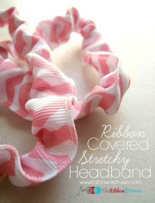 Ribbon Covered Stretchy Headband