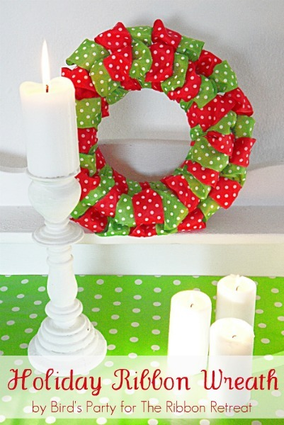 Holiday Ribbon Wreath - The Ribbon Retreat Blog