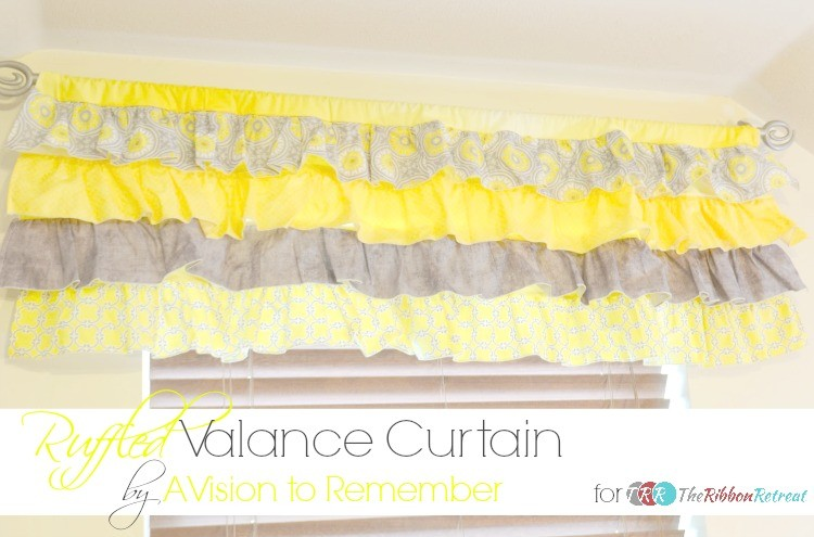 Relatively How To Sew A Ruffled Valance Curtain - The Ribbon Retreat Blog QL66