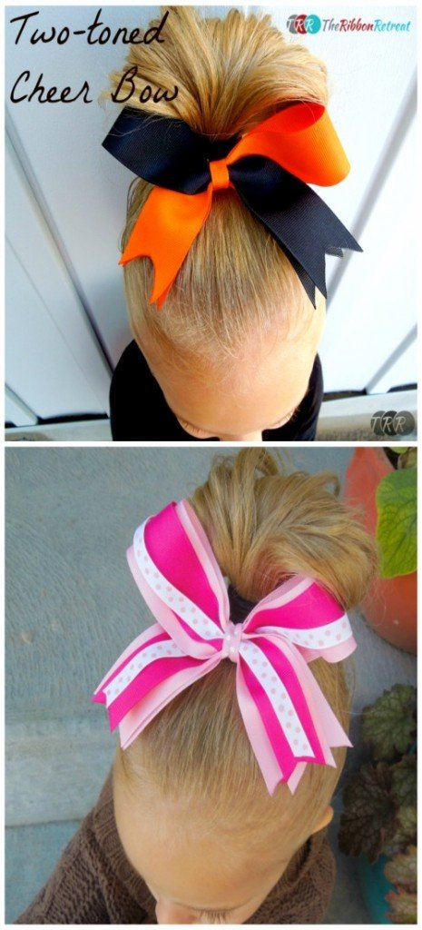 Two-Toned Cheer Bow - The Ribbon Retreat Blog