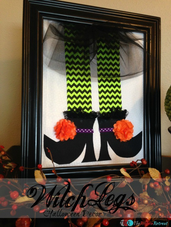 Witch Legs Halloween Decor