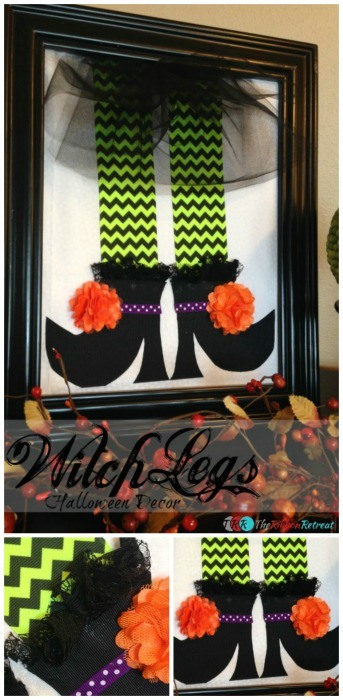 Witch Legs Halloween Decor - The Ribbon Retreat Blog