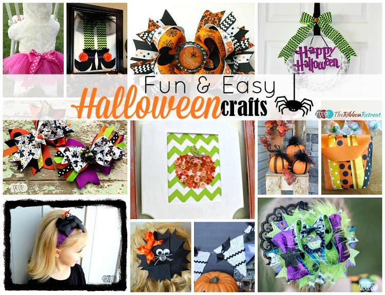 Fun and Easy Halloween Crafts - The Ribbon Retreat Blog