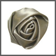 Grey Satin Rolled Rose