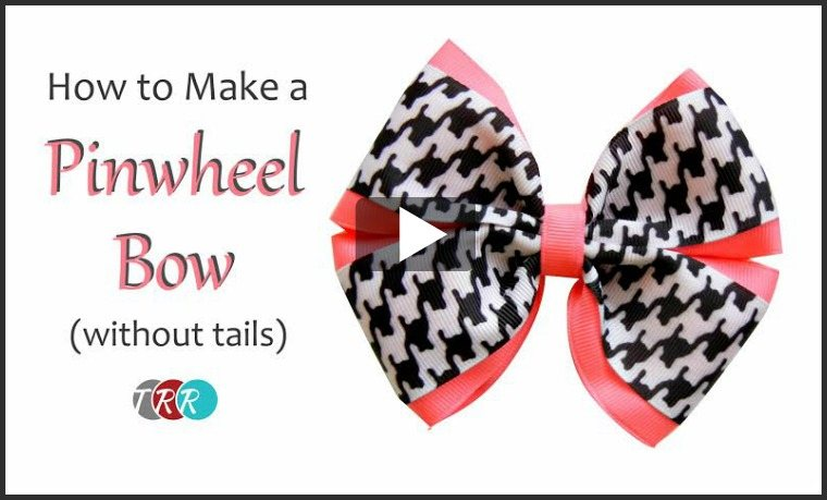 How To Make A Pinwheel Bow Without Tails, YouTube Thursday - The Ribbon Retreat Blog
