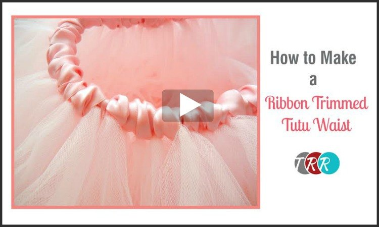 How To Make A Ribbon Trimmed Tutu Waist, YouTube Thursday