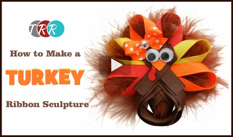 How to Make A Turkey Ribbon Sculpture, YouTube Thursday