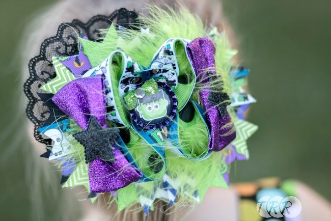 Monster Mash Halloween Bow - The Ribbon Retreat Blog