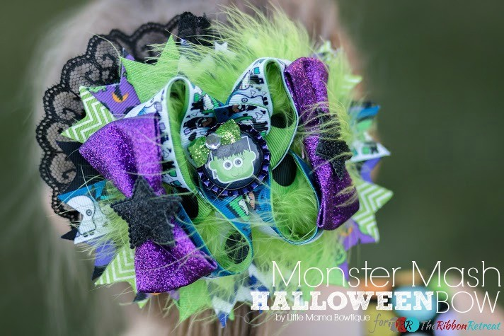 Monster Mash Halloween Bow