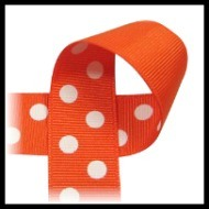 Orange and White Polka
