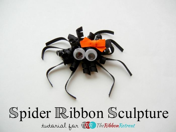 Spider Ribbon Sculpture - The Ribbon Retreat Blog