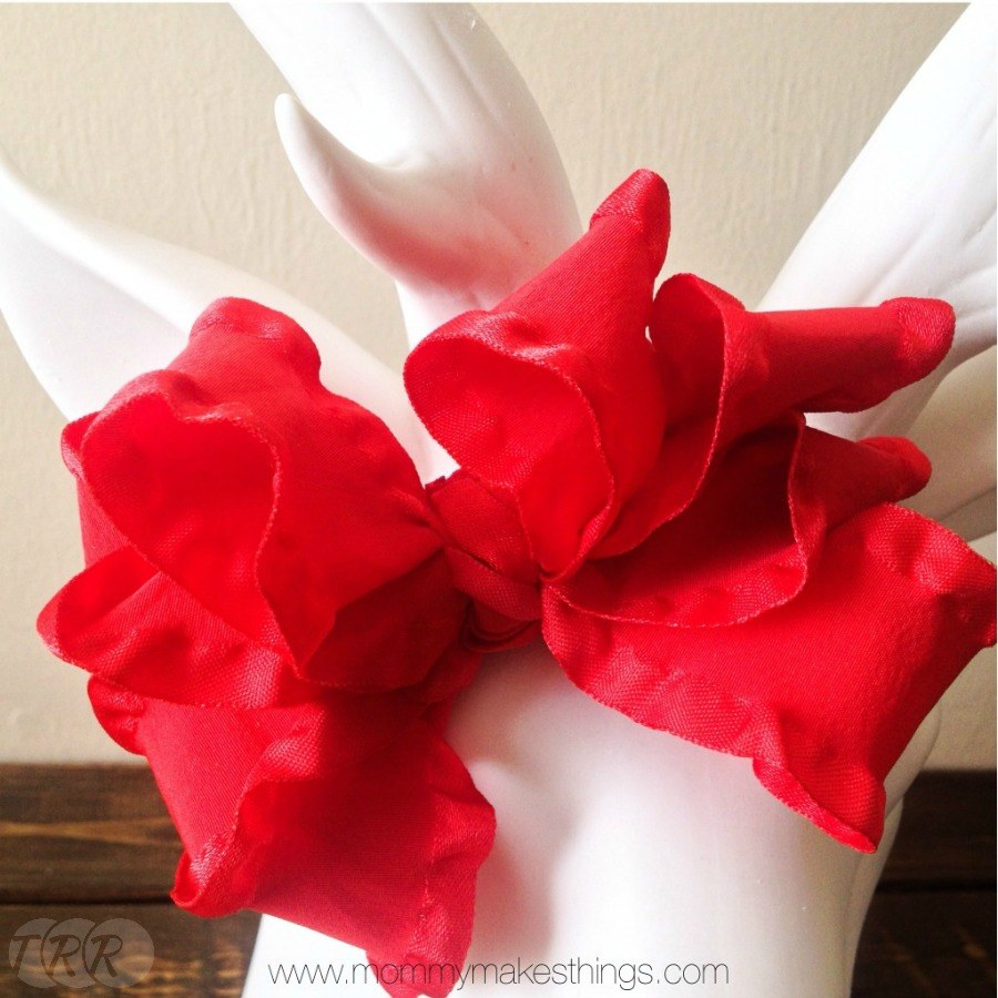 Christmas Double Ruffle Bow - The Ribbon Retreat Blog