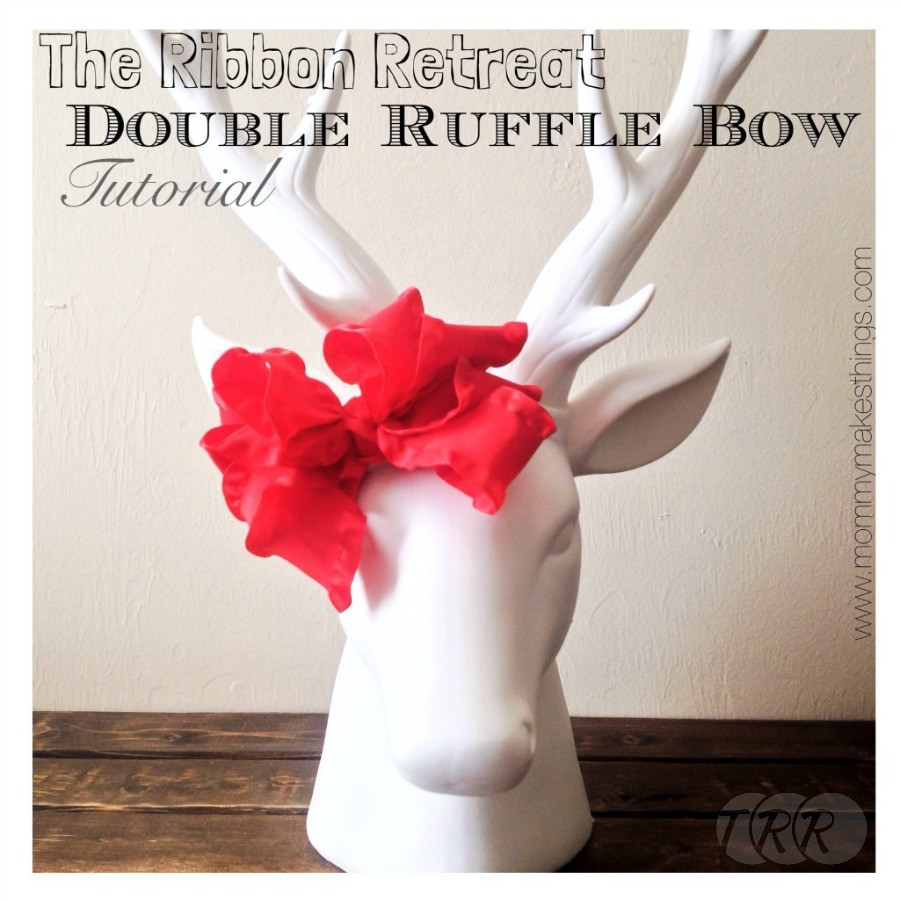 Christmas Double Ruffle Bow