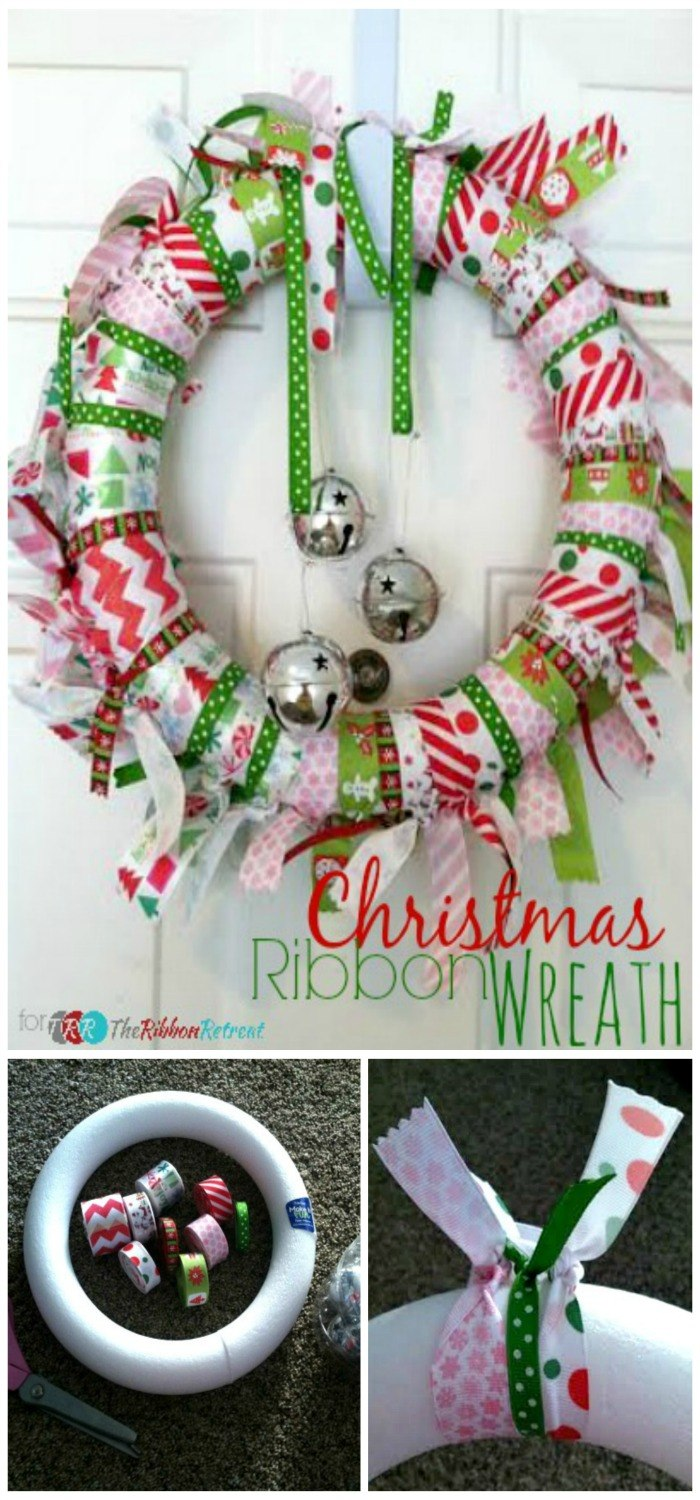 Christmas Ribbon Wreath - The Ribbon Retreat Blog
