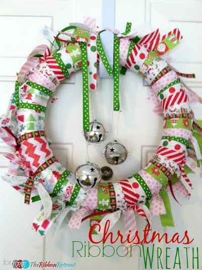 Christmas Ribbon Wreaths.Christmas Ribbon Wreath The Ribbon Retreat Blog