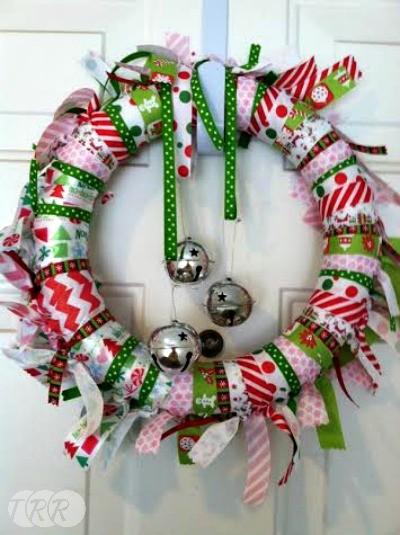 christmas ribbon wreath the ribbon retreat blog