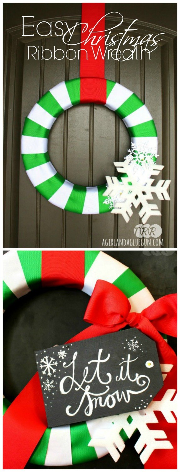 Easy Christmas Ribbon Wreath - The Ribbon Retreat Blog