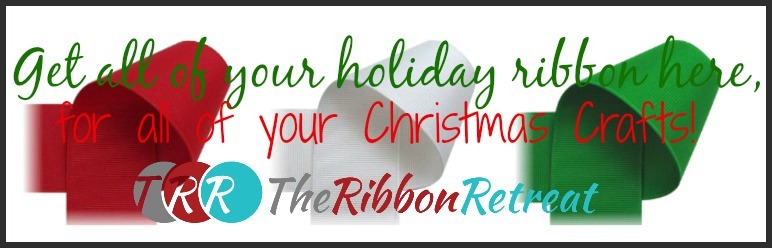 Holiday Ribbon Button