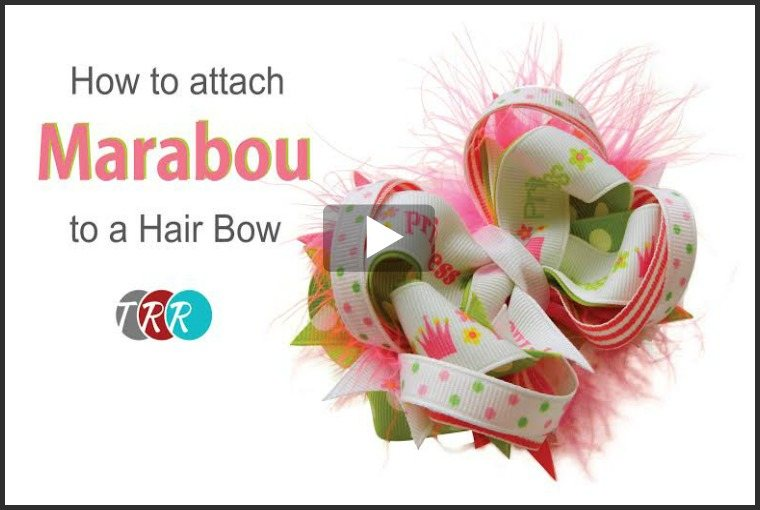 How to Attach Marabou to a Hair Bow, YouTube Thursday