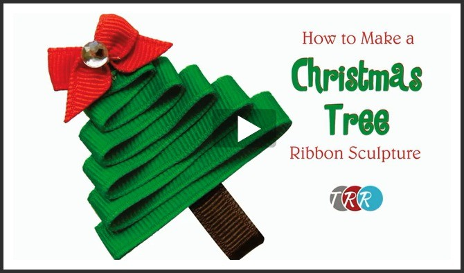 How To Make A Christmas Tree Ribbon Sculpture, YouTube Thursday