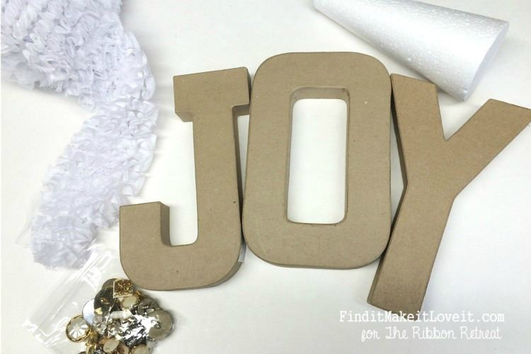 Joy Letters and Yarn Tree - The Ribbon Retreat Blog