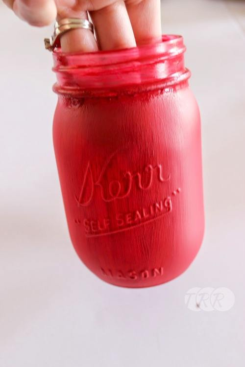 Santa Painted Mason Jar - The Ribbon Retreat Blog
