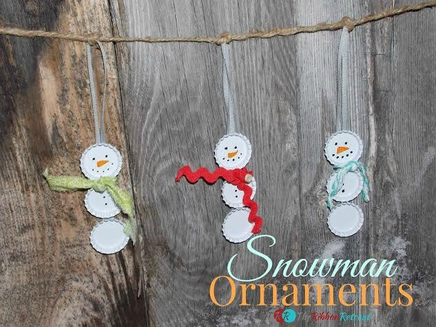 Snowman Christmas Tree Ornament - The Ribbon Retreat Blog