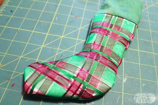 Woven Ribbon Stocking - The Ribbon Retreat Blog