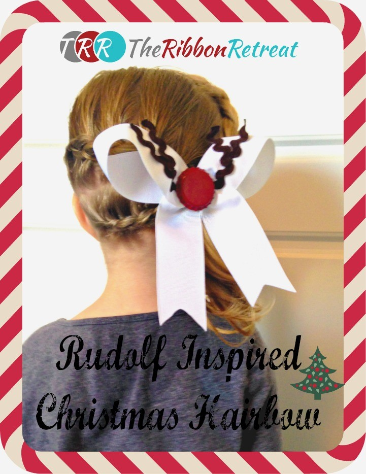 Rudolph Inspired Christmas Hair Bows