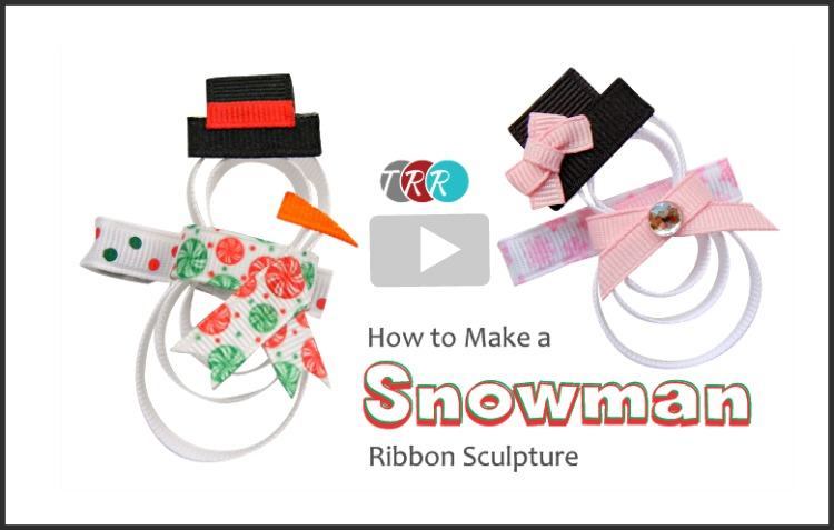 How to make a snowman ribbon sculpture youtube thursday the ribbon