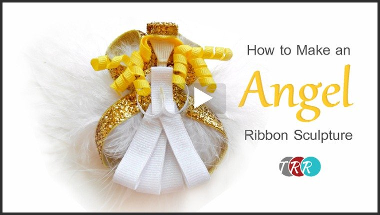 How to Make An Angel Ribbon Sculpture, YouTube Thursday