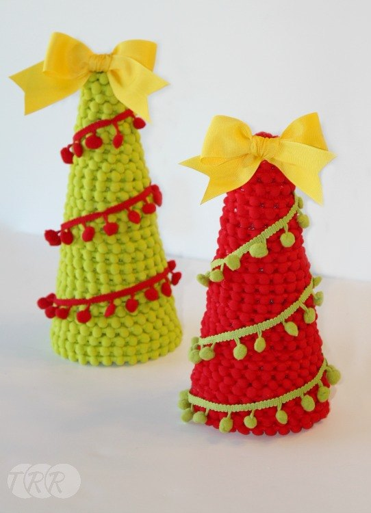 Pom Pom Christmas Trees The Ribbon Retreat Blog